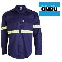 Camisa m larga Ombú con reflectivos ropa de trabajo en talles 38 al 46