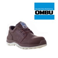 Zapato Ombu Cobalto calzado de seguridad marron c/puntera composite
