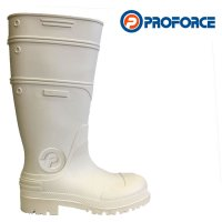 Bota pesada ProForce blanca en pvc suela antideslizante s/puntera 39/46