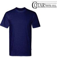 Remera Cotar lisa azul marino manga corta cuello redondo Hombre T 1/4