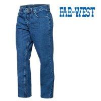 Jean 14 onzas azul indigo Far West uso ropa de trabajo talles 38/46