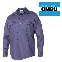 Camisa manga larga Ombú ropa de trabajo en talles 48 al 54